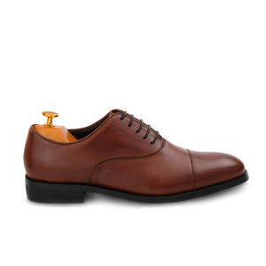 Oxford Shoes Medium Brown Side