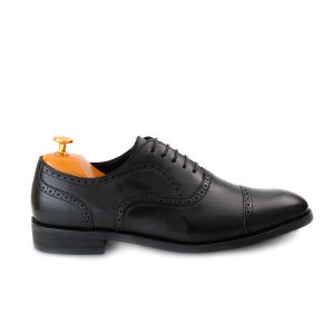 Semi Brogue Black Side